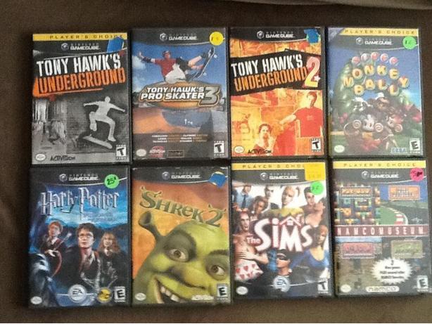 Nintendo GAMECUBE games $5 each