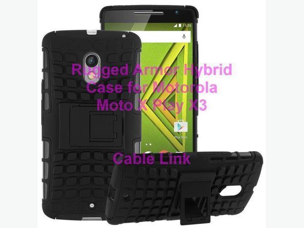 Hybrid Rugged Stand Case For Motorola Moto X Play X3