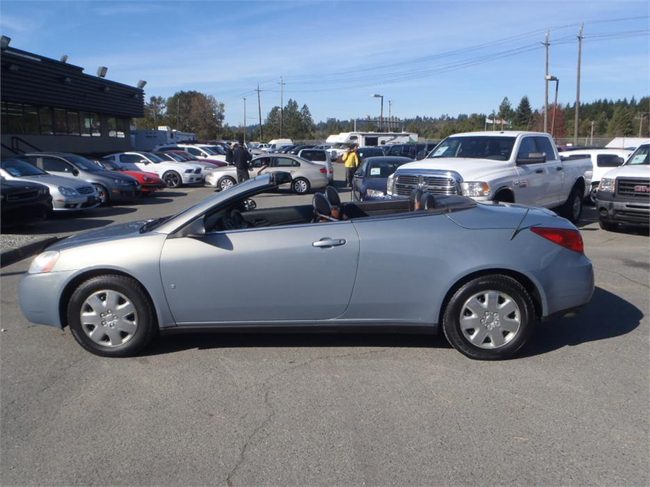 2007 Pontiac G6 Gt Hardtop Convertible Outside Okanagan