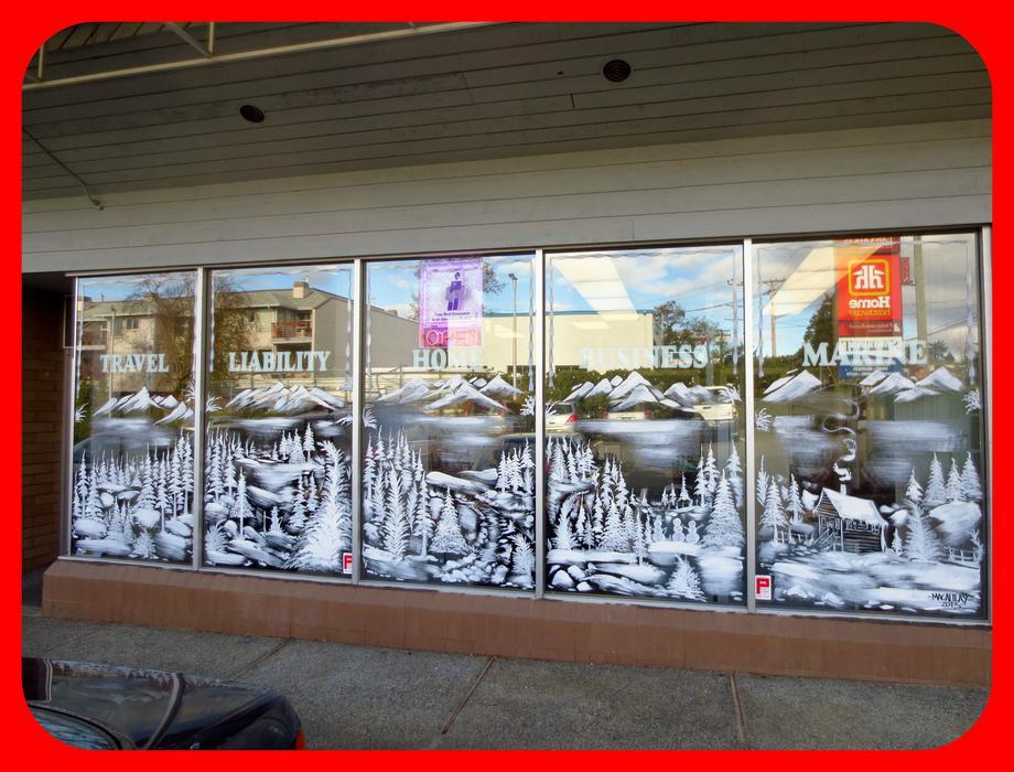 Christmas Window Painting Victoria City Victoria