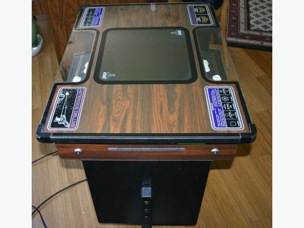 Asteroids Cocktail Table Arcade Game by Atari