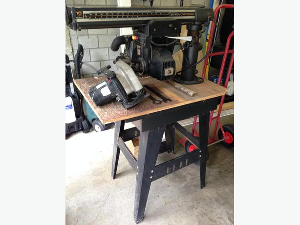10 Inch Sears Craftsman Radial Arm Saw With Table Manual Too North Saanich Sidney Victoria