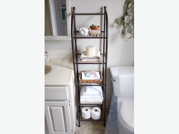 Metal bathroom shelving unit 28 images shelving units for Metal bathroom shelving unit