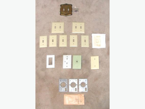 15 of Various AC, Phone, Cable ... etc., Wall Cover Plates