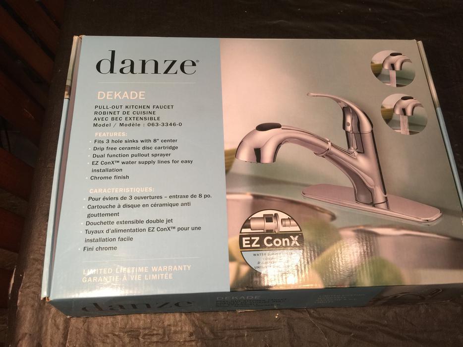 Danze Bravo Chrome Pull Out Kitchen Faucet Griffins Co Uk