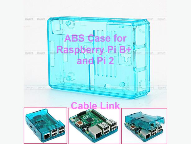 New  Blue ABS Transparent Case for Raspberry Pi 2 Model B+