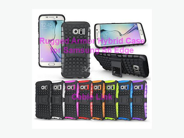 Rugged Armor Impact Case Cover Stand For Samsung Galaxy S6 Edge
