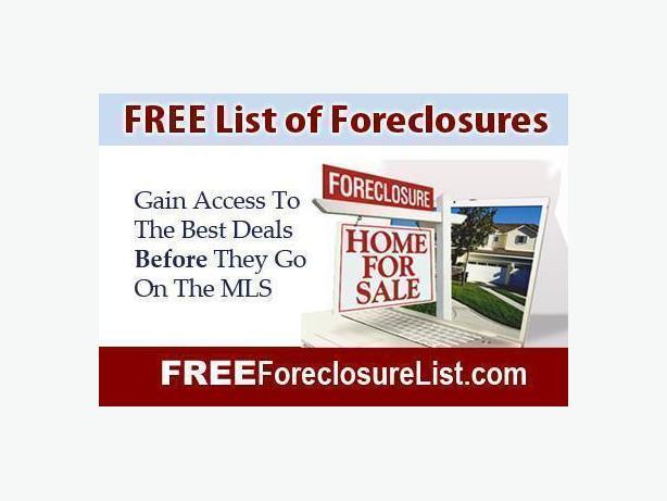FREE: LIST OF DISTRESS SALES