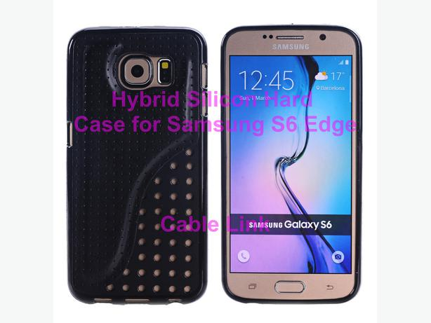 Hybrid Silicone Hard Armor back case for Samsung S6 Edge