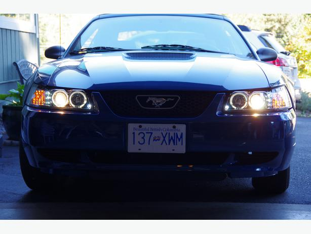 CHROME PROJECTOR HEADLIGHTS for 1999 - 2004 MUSTANG