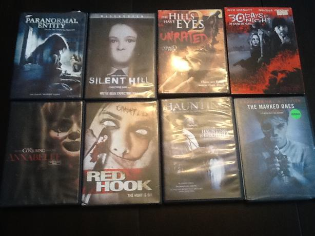 Various Horror DVDs for sale $5