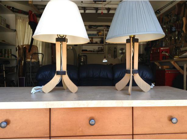 Pair Of Hockey Lamps