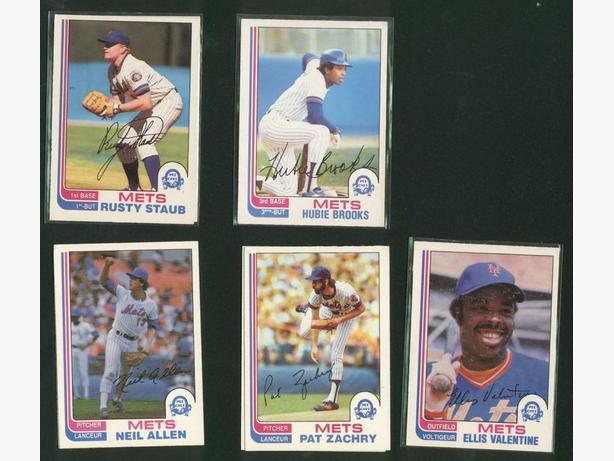 5 Card Lot 1982 O Pee Chee New York Mets