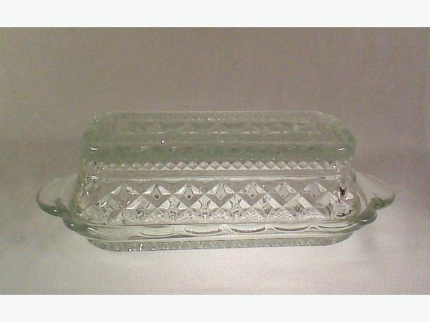 Anchor Hocking Wexford butter dish