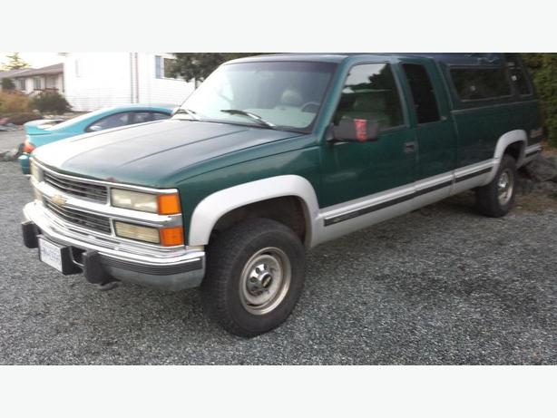 1996 chevy silverado 4x4 3 4 ton long box diesel for parts. Black Bedroom Furniture Sets. Home Design Ideas