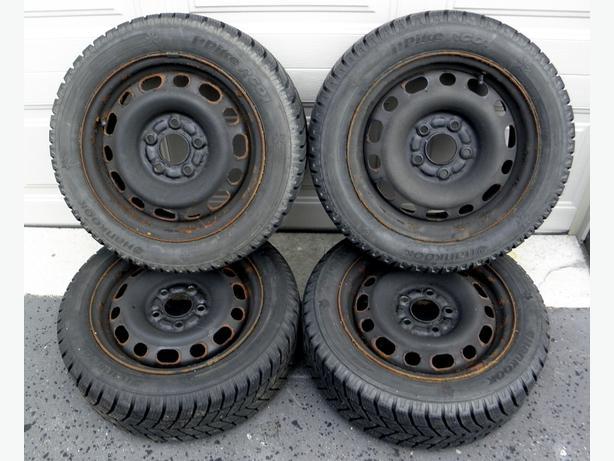 winter tires rims wheels hankook 195 55r15 mazda ford. Black Bedroom Furniture Sets. Home Design Ideas