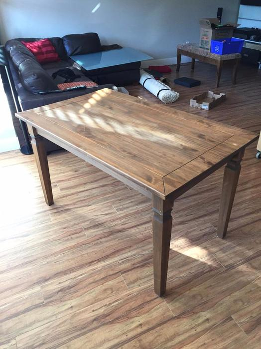 Real wood pier 1 import solid wood dining room table for Dining room tables kelowna