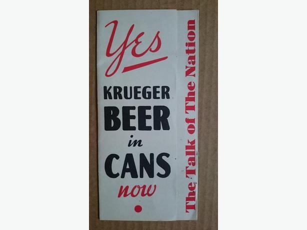 1935 Krueger First Beer Can Brochure