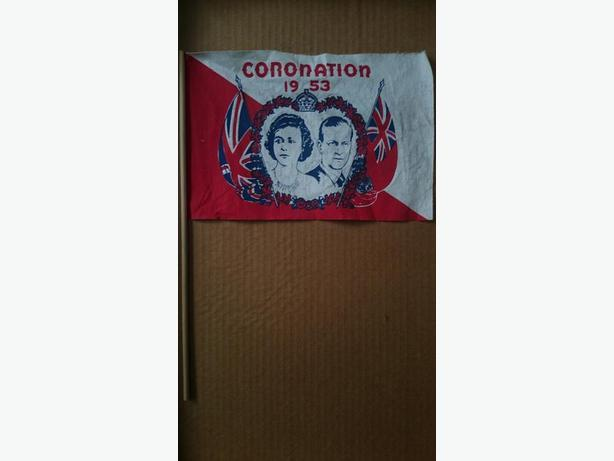 1953 Queen Elizabeth II Coronation Flag