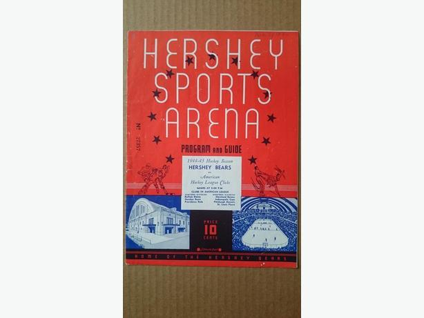 1944 Hershey Bears hockey program