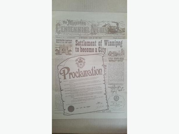 City of Winnipeg (Manitoba) Centennial newspaper