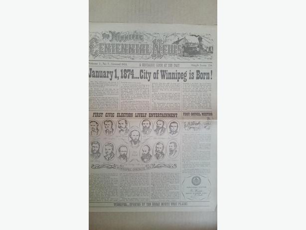 City of Winnipeg (Manitoba) Centennial newspaper