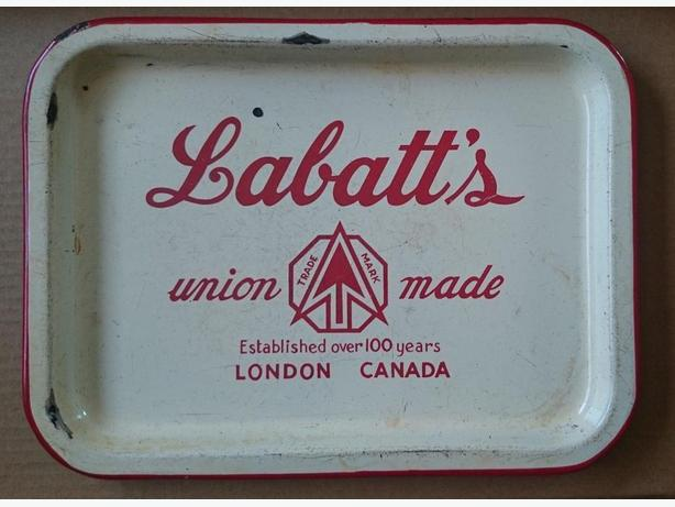 Labatt's porcelain Beer Serving Tray