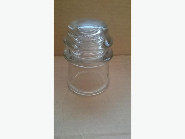 1940's Clear Glass Telephone/Telegraph Insulator - Dominion 16