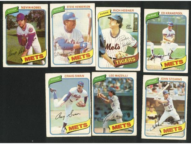 12 Card Lot 1980 & 1981 O Pee Chee New York Mets