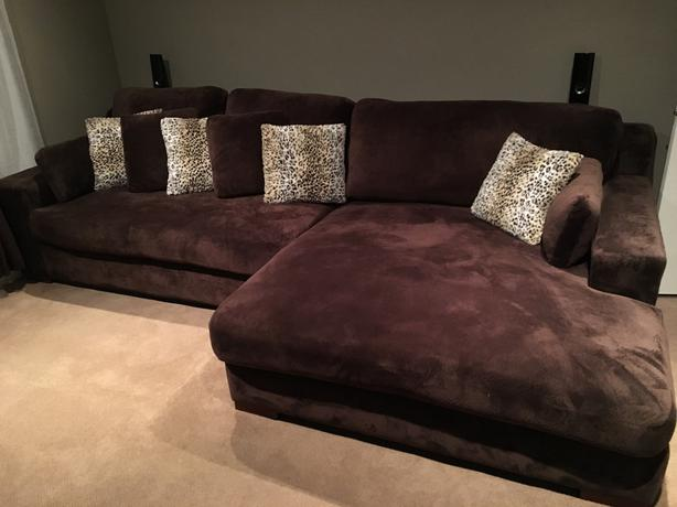 Super comfy 2 piece double chaise sectional by fairmont designs west shore l - Chaise design montreal ...