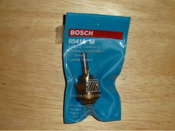 BOSCH ROUTER BIT WOODWORKER