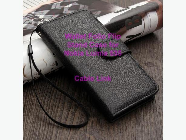 Magnetic Wallet Leather Flip Case for Microsoft Nokia Lumia 535