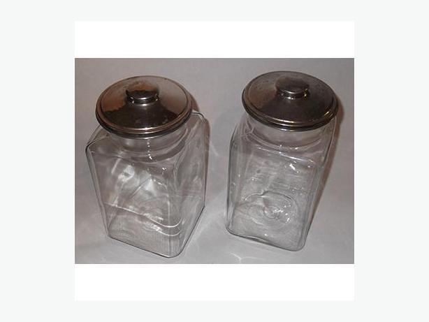 Vintage Glass Store Jars