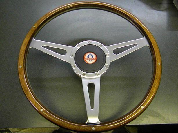 1965-73 Shelby, Cobra, Mustang, Wood Steering Wheel