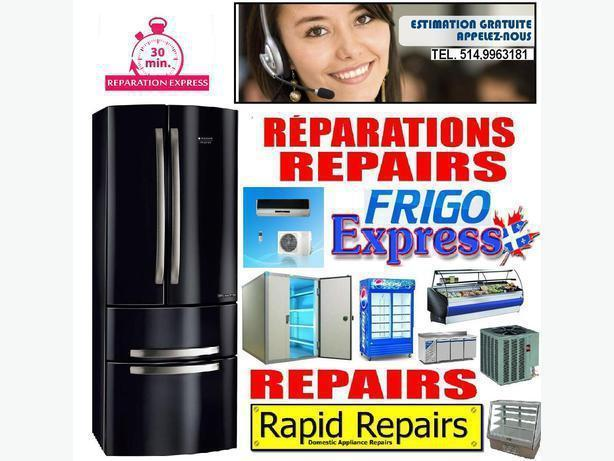 REPARATION ELECTROMENAGERS 514-9963181 APPLIANCE REPAIR FRIDGE REFRIGERATOR