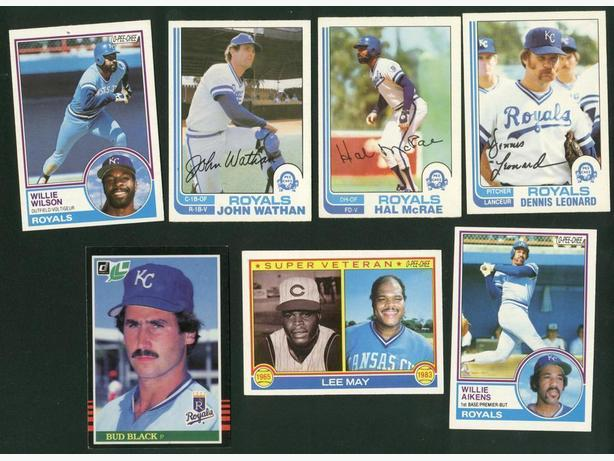 18 Card Lot 1980s Kansas City Royals