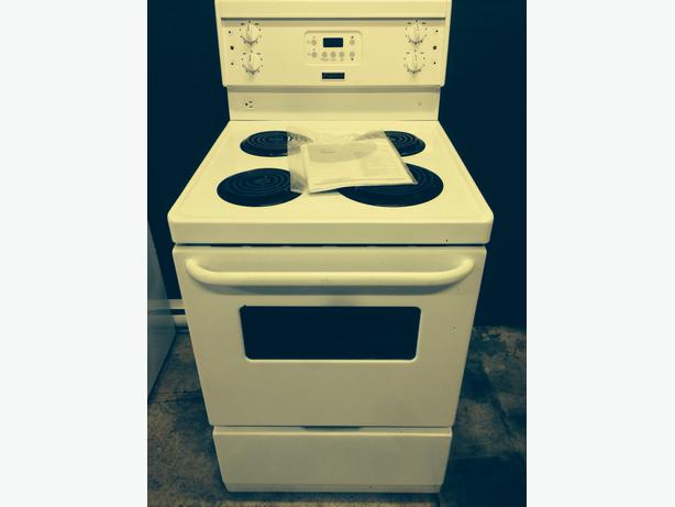 brand new fridgidaire apartment sized electric stove