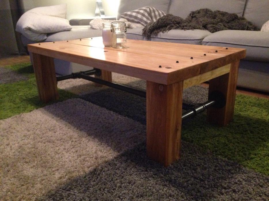 Solid hemlock coffee table osgoode ottawa for Coffee tables ottawa