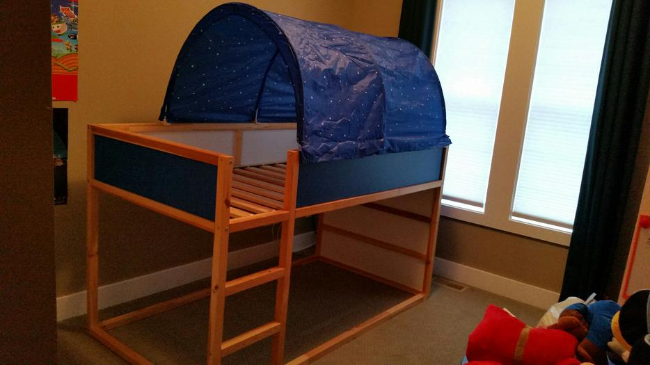 Ikea Reversible Loft Bunk Bed With Canopy Kids Maple Bay