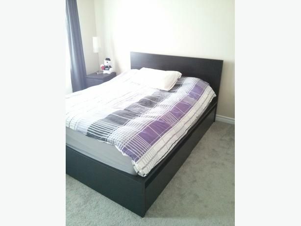 ikea malm high bed frame 4 storage boxes queen size orleans ottawa. Black Bedroom Furniture Sets. Home Design Ideas