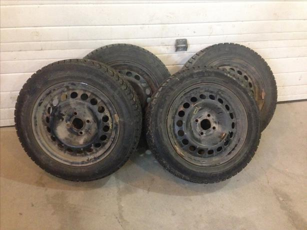 studded 195 60 r15 tires on 4 bolt 15 inch rims west. Black Bedroom Furniture Sets. Home Design Ideas