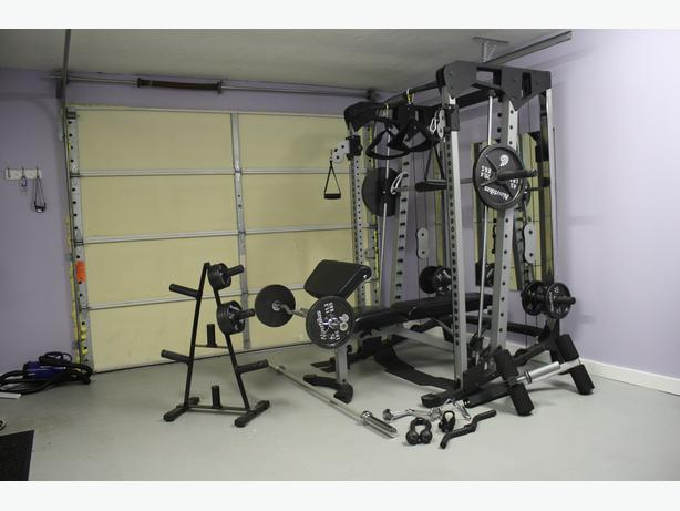 smith machine with cables