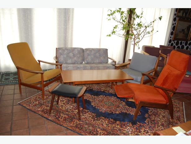 danish modern teak living room set outside victoria victoria