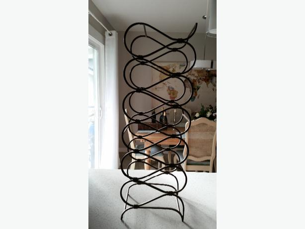 Pier 1 wrought iron wine rack for sale saanich victoria - Wine racks wrought iron floor standing ...