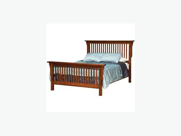 Mission style queen size bed frame victoria city victoria for Mission style bed frame plans