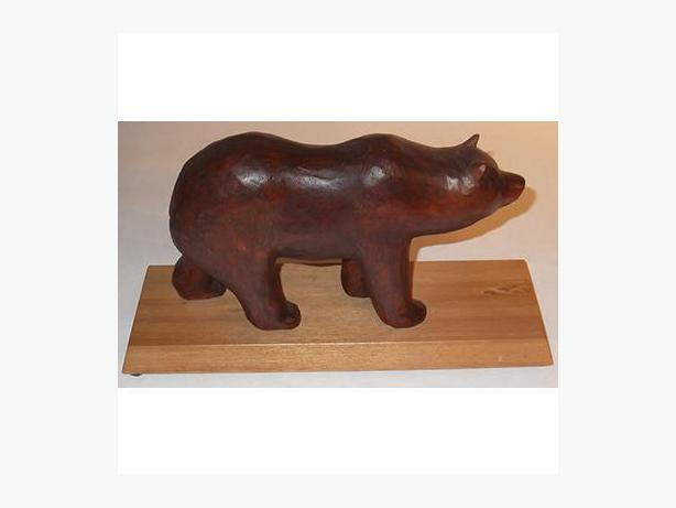 Hand-Carved Painted Bear