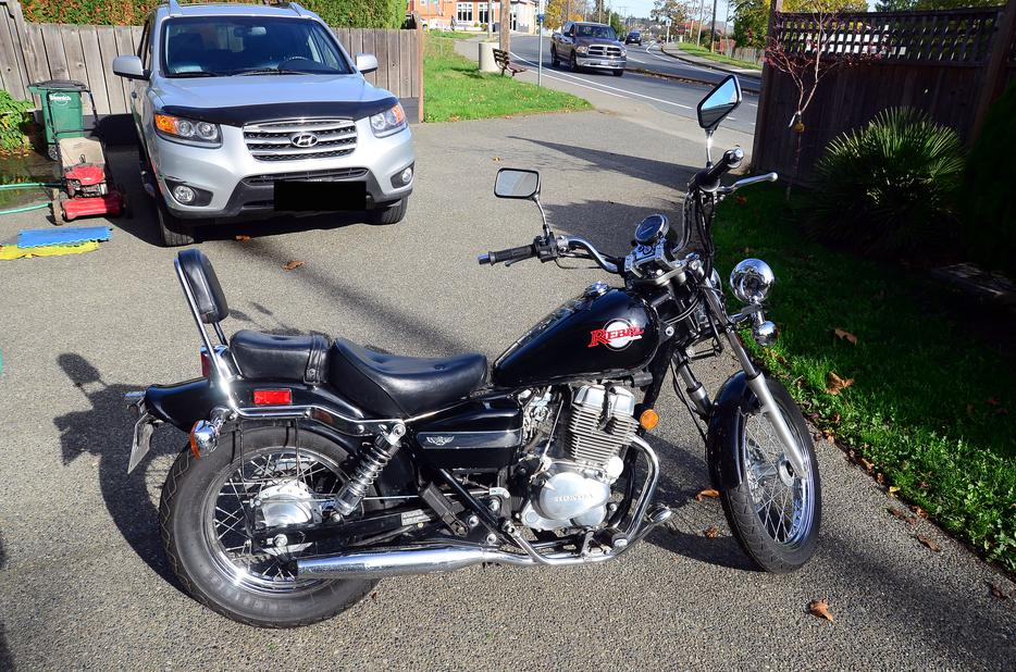 honda rebel 250cc black victoria good condition victoria city