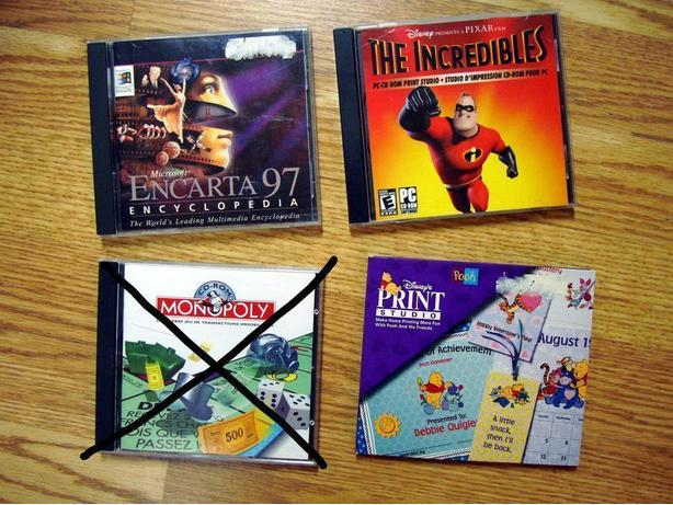 Like New PC Computer Games Incredibles Encarta Print Studio $1 each