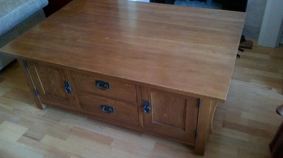 Solid Oak Craftsman Style Coffee Table Malahat Including Shawnigan Lake Mill Bay Victoria