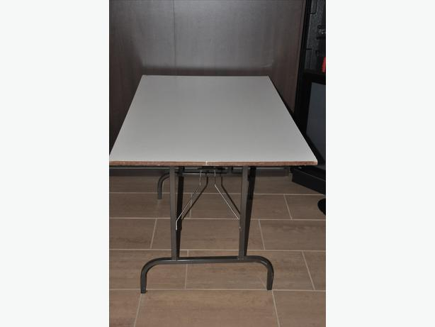 Folding wood table table pliante en bois gatineau sector - Table ronde pliante bois ...